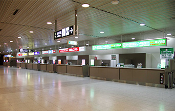 Car Rentals counter at the Domestic Terminal Building